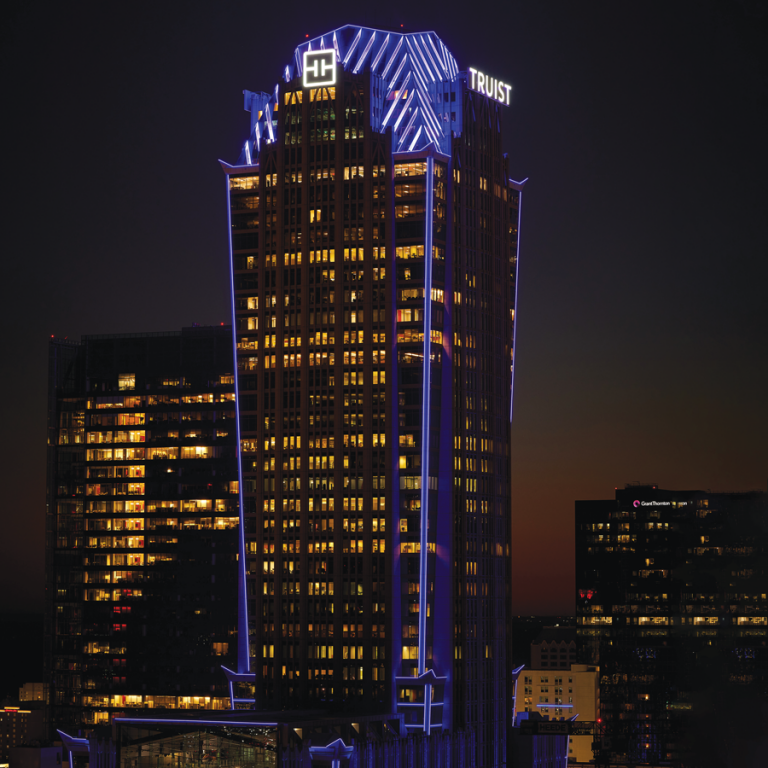 Truist headquarters at night